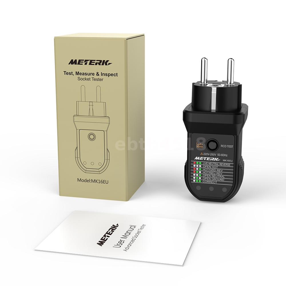 Meterk Rcd Electric Socket Tester Automatic Neutral Live Earth Wire House Wiring Open Always Need To Check The Of And Polarity Connection Test Leakage Tripping Try Our